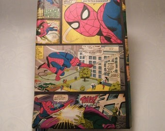 Spiderman Journal, smash book or scrapbook - great gift for superhero fans young and experienced!