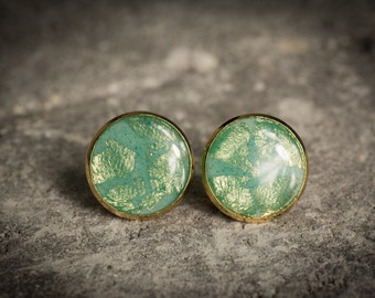 Post earrings, turquoise earrings, resin earrings, stud earrings, white earrings, Wedding earrings, Bride earrings