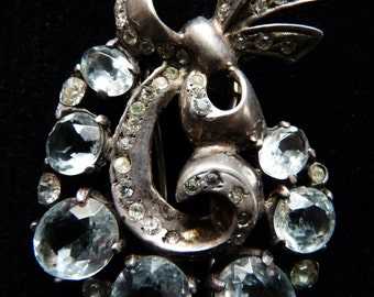Discounted Further - Very Old Sterling Eisenberg Dress Clip...Very Heavy.