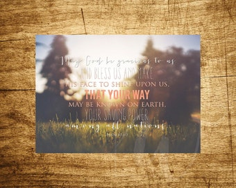 "Among All Nations - Psalm 67 - Bible Verse - 5x7"" Digital Print - Scripture Art - Instant Download Printable Art"