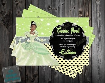 Princess Tiana - Princess and the Frog -  Birthday Party Thank You Card