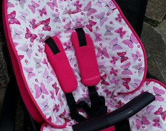 Pushchair buggy stroller seat reversible liner for QUINNY MOODD