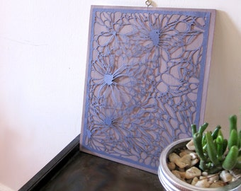 Paper Cut - Wall Hanging - Hand Cut Paper - Stonecell - Organic - Cell Structure - Nature Art - Wall Hanging