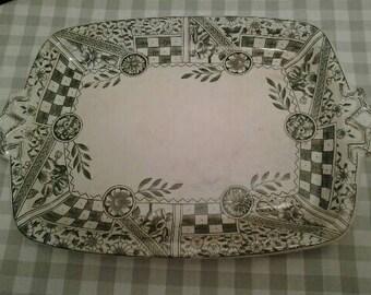 Shabby Antique Dunn Bennett Platter