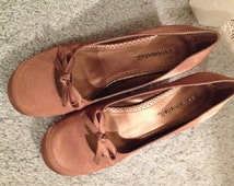 Free Shipping! Vintage Shoes by Pierre Michel Gorgeous Copper Satin Heels Just Like New
