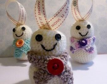 Snowman Christmas Tree Decoration - amigurumi crochet