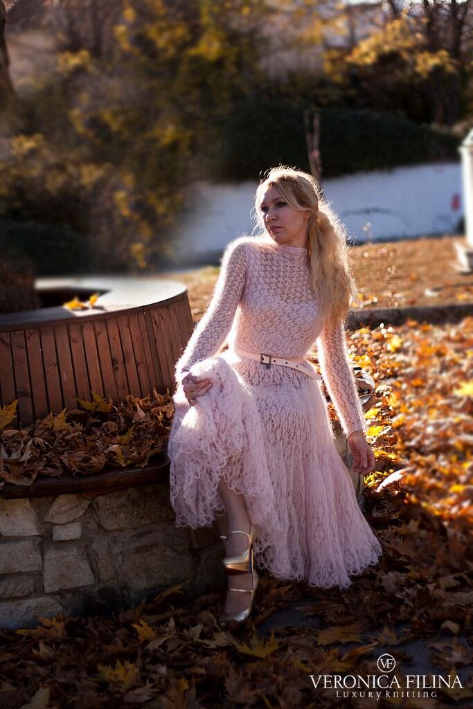 Mohair Dress Knitting Pattern : hand knitted mohair-silk lace dress