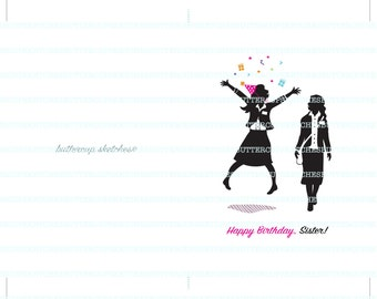 LDS Sister Missionary Birthday Card