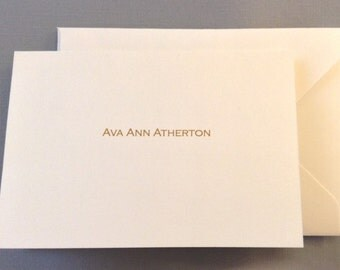 Personalized Name Notecard