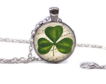 Irish Necklace Irish Jewelry Clover Necklace