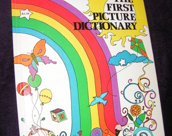 Vintage 1978, The First Picture Dictionary. Hardback Book.