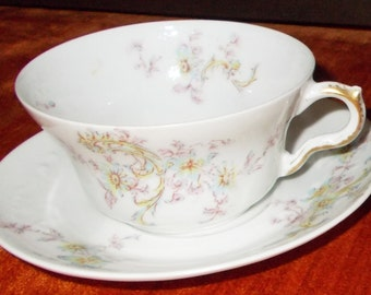 Theo Haviland Limoges Cup and Saucer