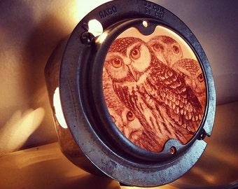 Unique Repurpose Owl Night Light