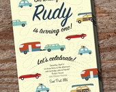 Custom Vintage Car Invitation Digital Download