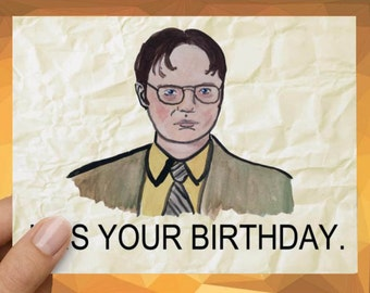 Dwight Schrute Card Etsy