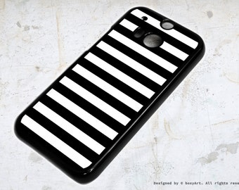 HTC ONE M8 Case - Black Lines