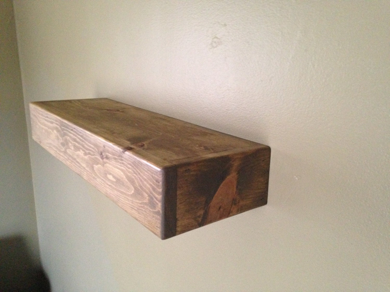 Rustic style floating shelves driftwood finish by for Driftwood wall shelves