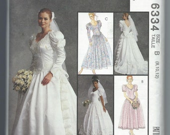 McCall's 6334  Bridal Gowns and Bridesmaids' Dresses