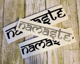 SUMMER SALE! Namaste Yoga Car Laptop iPhone Vinyl Decal Sticker