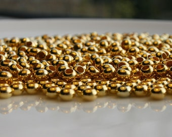 200x Gold spacer beads,6mm,gold spacers,Spacer beads,Nickel free spacer beads,WHOLESALE!!