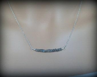 Sale! Gold Filled Labradorite Necklace-Dainty Necklace-Sterling Silver Tiny Labradorite Necklace-Gemstone Necklace-Everyday Necklace-Gift