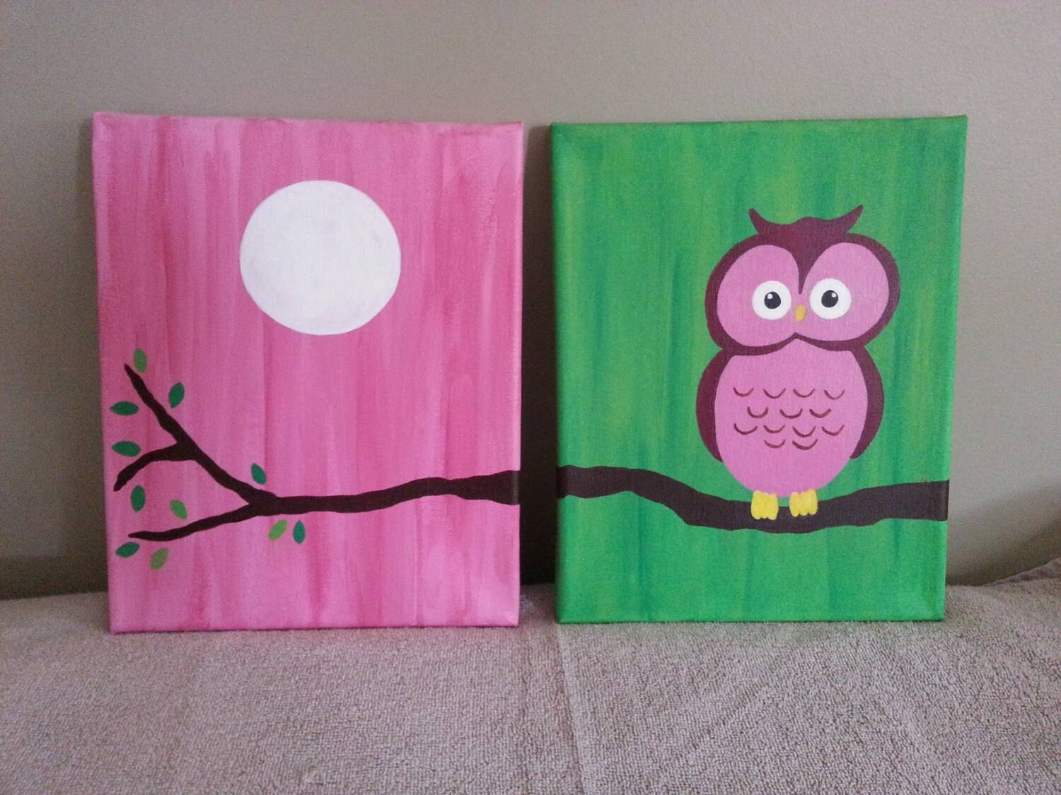 Owl painting girls room girly decor girls room painting - Girl owl decor ...