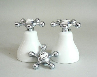 1900s White China Faucets