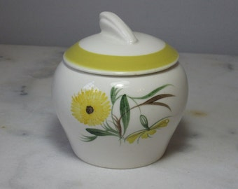 Susie Cooper Hand Painted Yellow Preserve Pot Marigold Design
