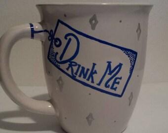 Alice in Wonderland inspired Drink Me mug