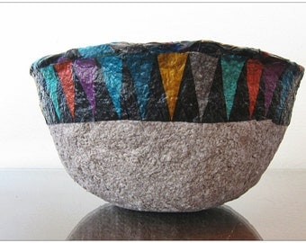 PAPER PULP BOWL./black/red/grey