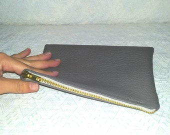 Taupe clutch bag/gift ideas