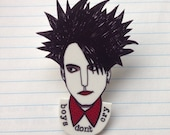 Robert Smith from The Cure brooch
