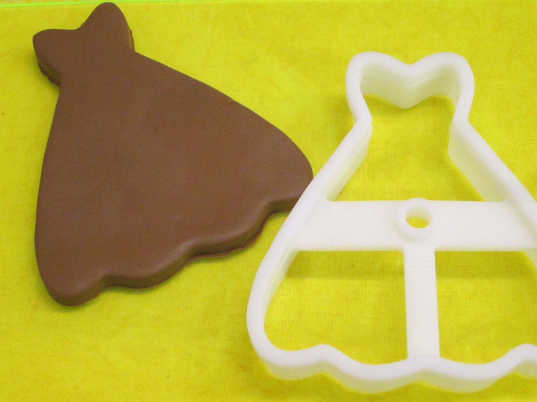 Wedding dress gown deep cut cookie cutter by for Wedding dress cookie cutters