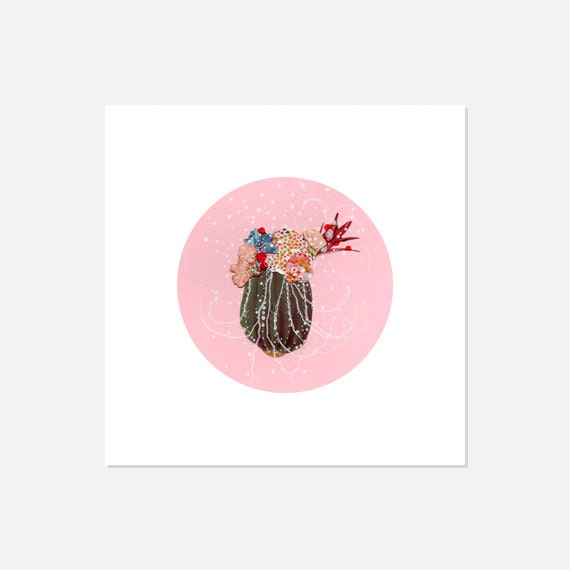 Pink CIRCULAR ART : Archival Print