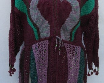 Hand knitted Fantasy Gothic Sweater