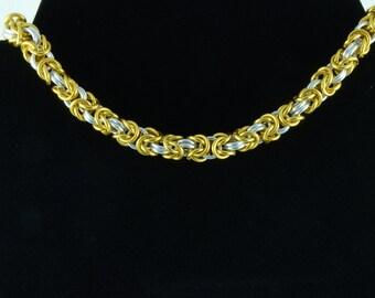 Byzantine Anodized Alumninium Choker Necklace