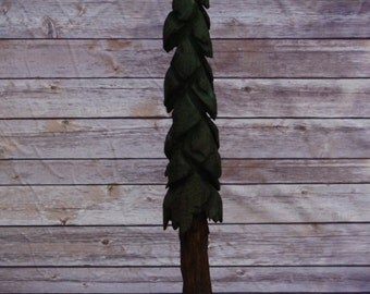 Pine Tree, Chainsaw carving, Painted and sealed.          All one of a kind