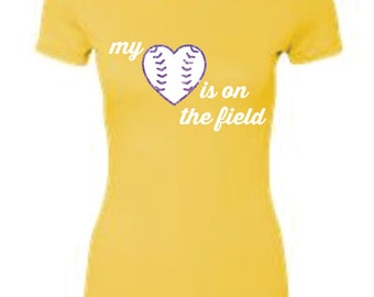 The Perfect Ladies Tee-Heart on the field