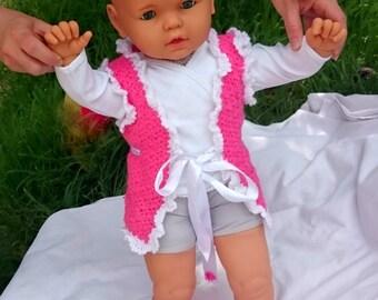 Crochet Baby Vest Spring Bodice Gift Idea Hand Made