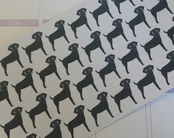 Black/Brown Labrador Retriever Stickers! Dog Stickers! Perfect for your Erin Condren Life Planner, calendar, Paper Plum, Filofax!