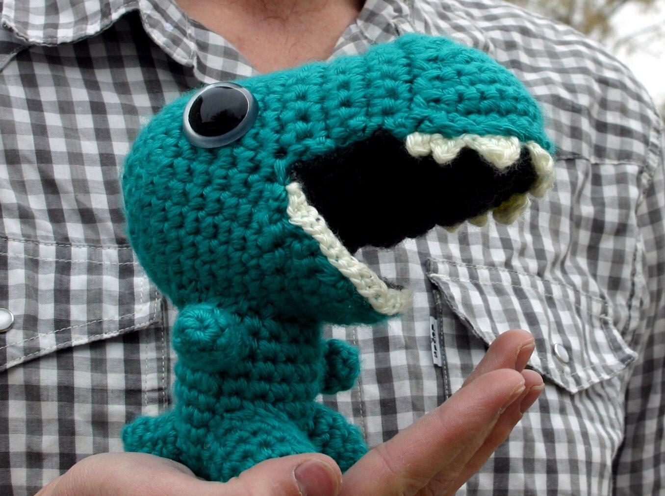 Amigurumi Open Mouth : Reginald Digital Crochet Pattern Amigurumi Dinosaur ...