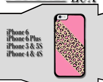 iPhone 6 Case/ Pink Leopard iPhone 6 Plus Case/ Cheetah iPhone 5/5S Case/ Name iPhone 4/4s Case