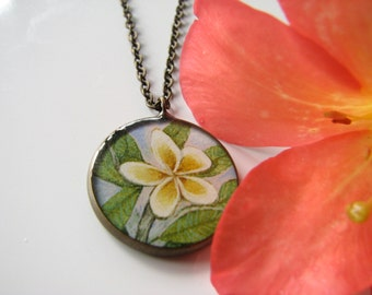 Plumeria flower Necklace