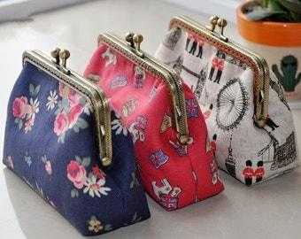 Customize Handbag Metal Frame Wallet Kiss Lock Purse