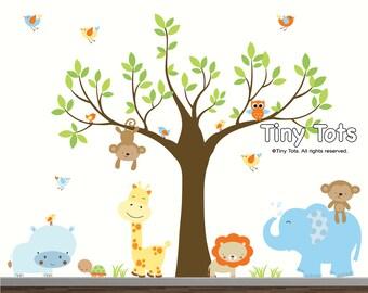 Jungle Nursery Decal-Nursery Tree Wall Decal