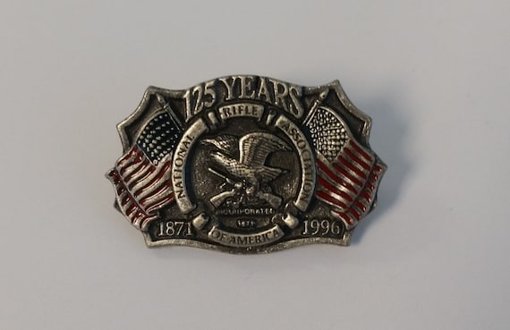 Pewter Nra 125 Years Lapel Or Hat Pin