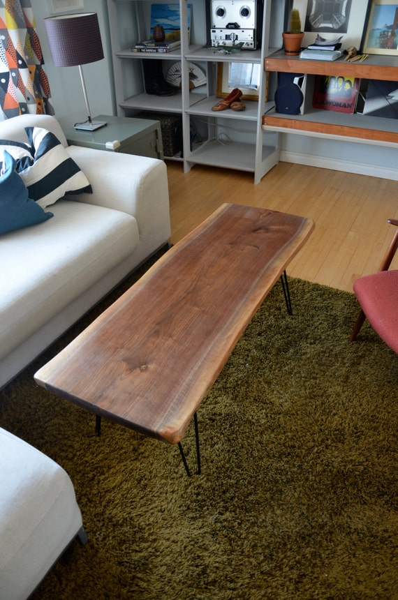 Black Walnut Live Edge Coffee Table by GreatLakesCo on Etsy