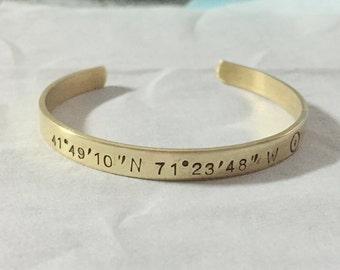 Coordinate bracelets for her, gps coordinate bracelet, coordinate bracelet etsy, personalized coordinate bracelet, coordinate bracelet gold