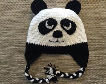 Custom Handmade Crochet Panda Bear Hat