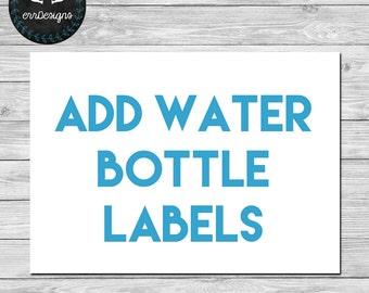 Add Water Bottle Labels
